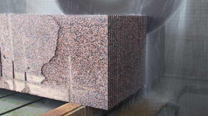 граніт, розрізання блоку